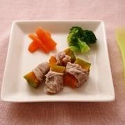 レシピブログ連載☆離乳食レシピ☆「かぼちゃの豚肉巻き」更新のお知らせ♪