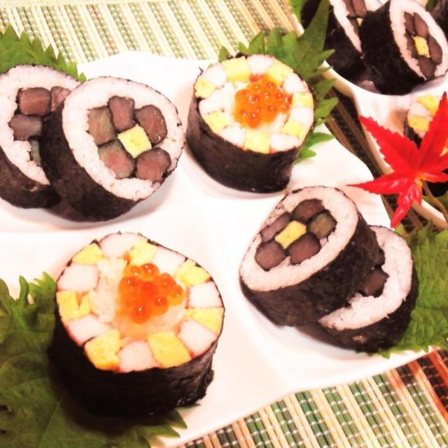 【レシピ】パーテイ★おもてなし★かわいい【変わり巻き寿司】(^^♪
