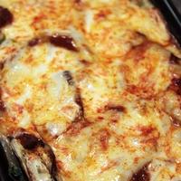 野菜嫌い克服系のお手軽簡単な茄子とほうれん草の重ね焼き。
