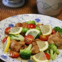 鶏のから揚げ♪レモンマリネ と うなぎの炊き込みご飯。