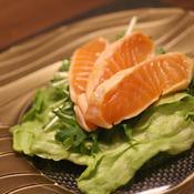 サーモンサラダの柚子こしょう風味