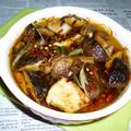 豚バラと生椎茸+茎ワカメのアヒージョ