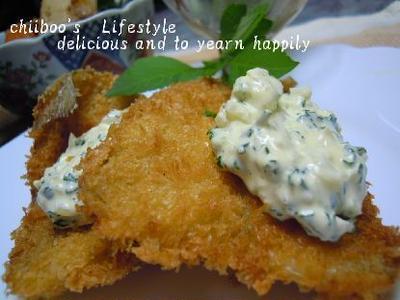 白身魚フライの簡単タルタルソース&簡単和皿一鉢
