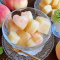 混ぜて冷やして簡単♡贅沢桃の一口キューブアイス【#簡単レシピ#時短#節約#手作りおやつ#手作りアイス】