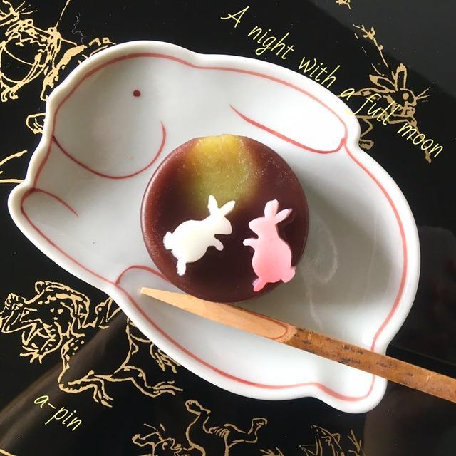 十五夜和菓子(月うさぎ)