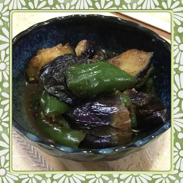 茄子とピーマンの簡単味噌煮(レシピ付)