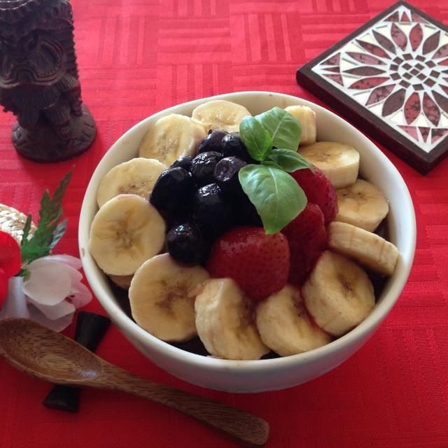 あらッ!簡単♪♪ずーっと作りたかった【ハワイのエッグスシングス】で食べた『アサイーボウル』♪♪