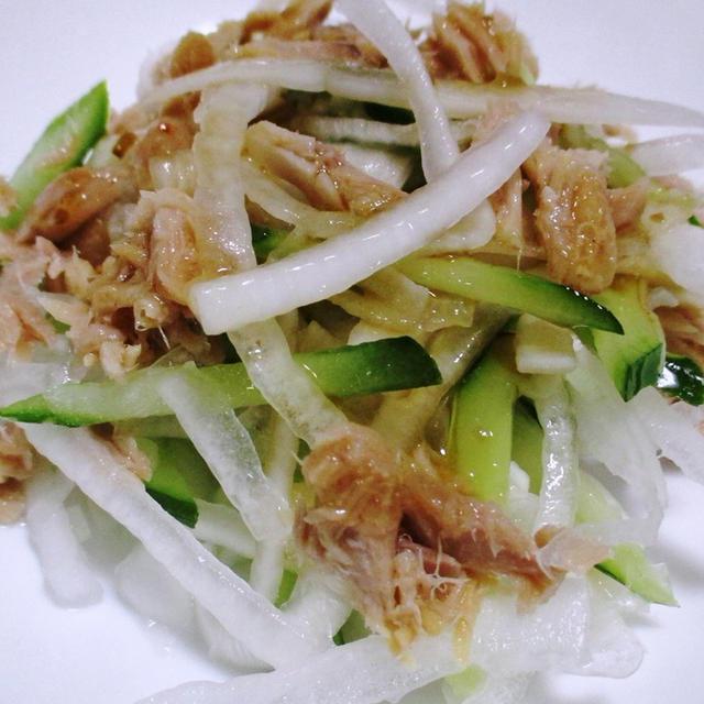 ツナとサラダオニオンの麺つゆドレッシング