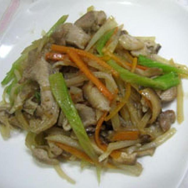 鶏肉といろいろ野菜の炒めもの