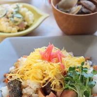 鮭と根菜のご飯