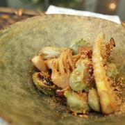 焼き筍とソラマメのおつまみサラダ