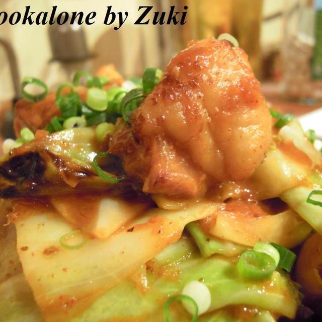 キャベツと鶏のタッカルビ風