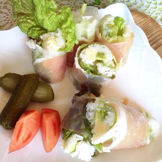 のり巻きより簡単!?生春巻き寿司