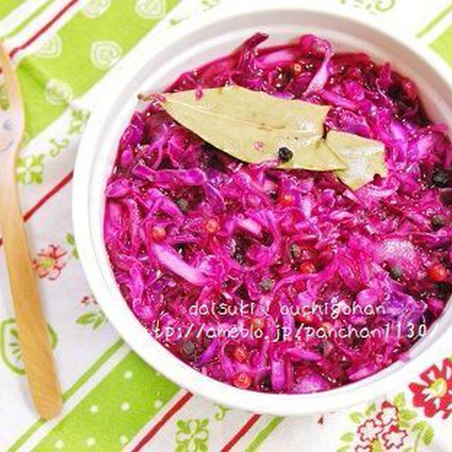 紫キャベツのピクルス