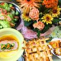 かぼちゃが器のパンプキングラタンパイ〜花と料理でハロウィンを楽しもう♪