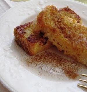 簡単☆シナモン風味のプリンフレンチトースト