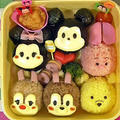 ディズニーツムツム弁当の作り方【簡単キャラ弁】Disney Tsum Tsum Bento Lunch Box【Kyaraben】