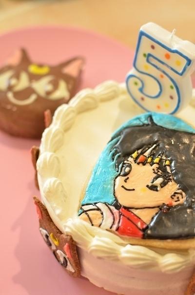 セーラームーン☆セーラーマーズ&ルナのバースデーケーキ
