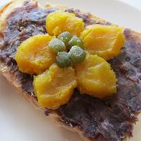 お芋の花咲く♡餡バターフランスパン食パン!トーストアート♪