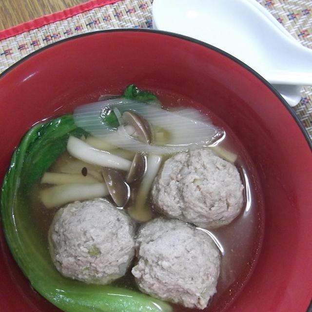 ふわっふわ★豆腐入り 肉団子の中華スープ