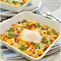 とろ~り半熟卵とチーズのケチャッピー焼きマカロニ / 27日の朝ごはん by Ayaさん