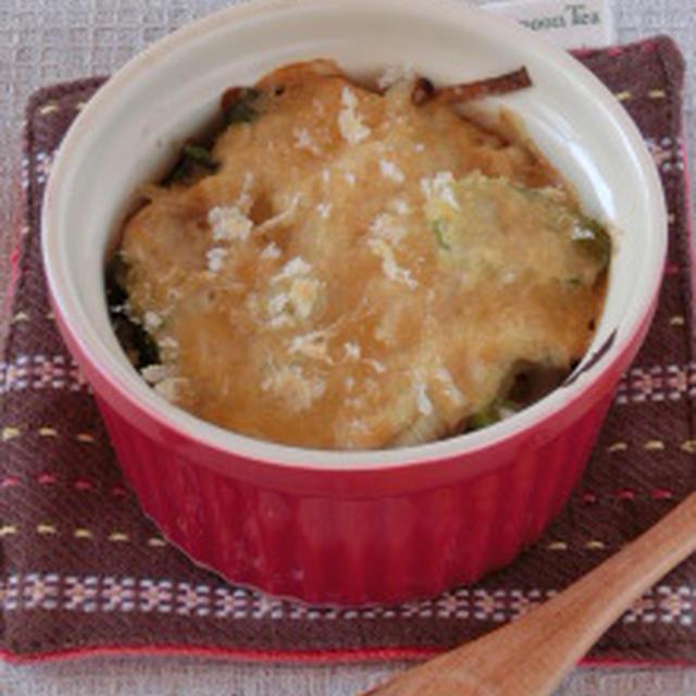 冬の味覚をダブルの醗酵食品で味わう♪長ネギのヨーグルト味噌グラタン