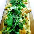 旬の野菜とバジリコソースでグリーンピッツァ