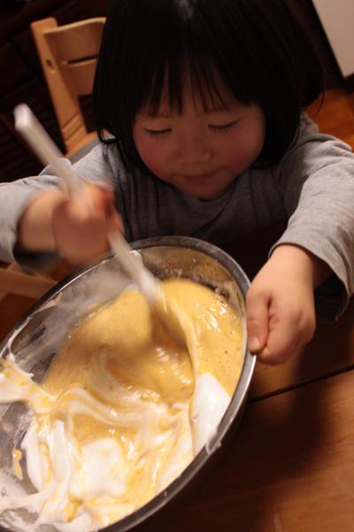 ひな祭り終わったけど シフォンケーキ 第二段 (子供とつくろう)