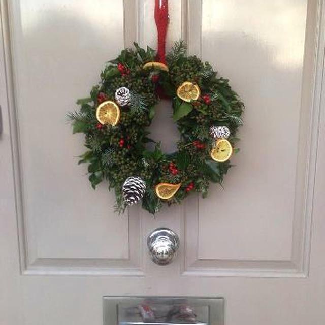 クリスマスリースとスコーンで楽しい12月レッスン♪