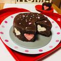ハートマシュマロ in チョコクッキーアイスケーキ♡