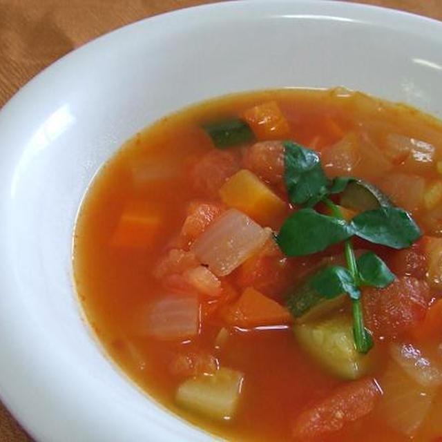 スーパーヘルシー☆具だくさんトマトスープ