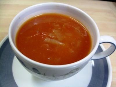 レンジトマトスープ