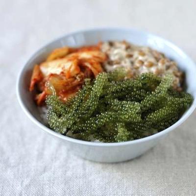 海ぶどう納豆キムチ丼