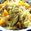 <野菜たっぷりペペロンチーノ>