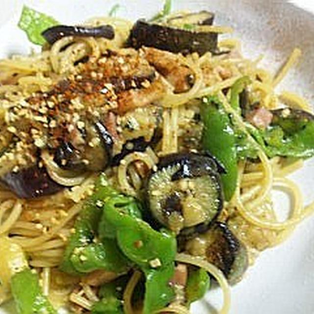 GABANスパイス~と~夏野菜+ベーコン+       ぺペロンチーノ (キッチン ラボ)