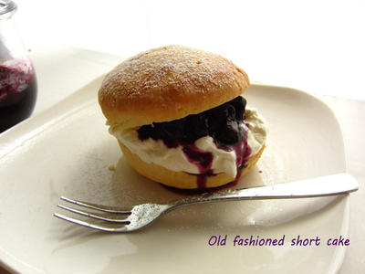 ブルーベリーのオールドファッション・ショートケーキ