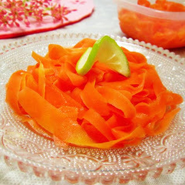 旬の野菜を簡単に美味しく♡人参のパスタ風マリネ