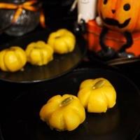 ハロウィン仕様のかぼちゃ白玉*