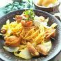 鶏肉の生姜焼きパスタ☆