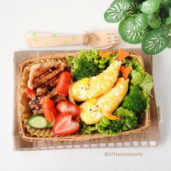 Kawaii Ebi Fry & Tako Wiener Bento