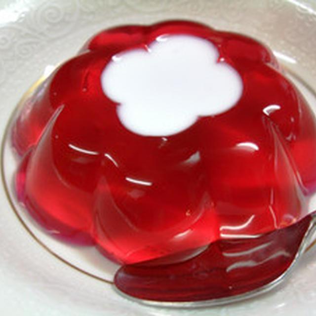 赤紫蘇ジュースのゼリー