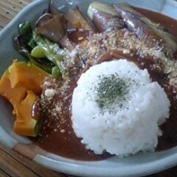 残り物リメイク☆ カレーライス~夏野菜トッピングで