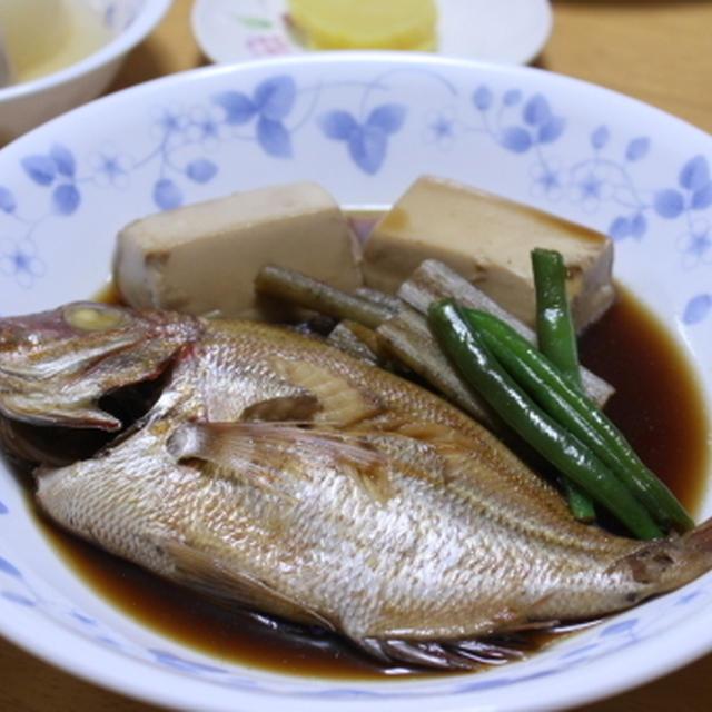 ちこ鯛の煮付け&きのこご飯