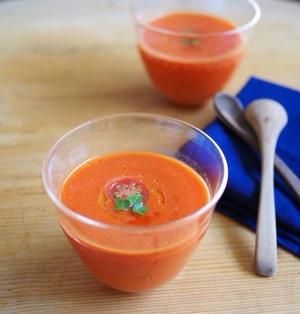 赤パプリカとトマトの冷たいポタージュ