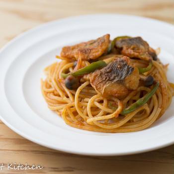 鯵のスパゲッティー・ナポリタン