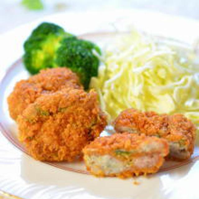 【レンジでチン】簡単&ヘルシー♪ 里芋と豚肉のさっぱり豚カツ梅風味✿