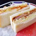 コールスローサラダを使ってミックスサンドイッチ
