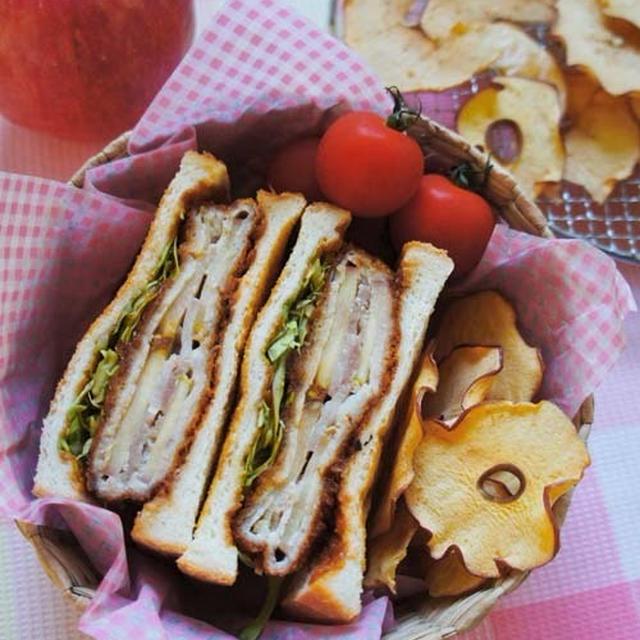 林檎の味が新鮮☆林檎ミルフィーユのバルサミコ酢カツサンド