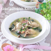 牡蠣とほうれん草のグリーンカレースープ