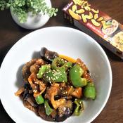 豚バラ肉と茄子とピーマンの味噌炒め
